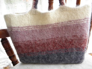 Finished Felted Tote